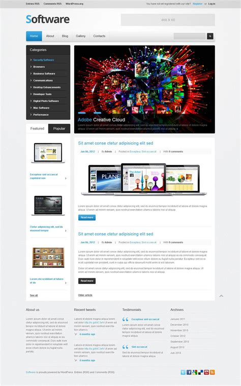 wordpress themes free download for software company software company wordpress theme web design templates