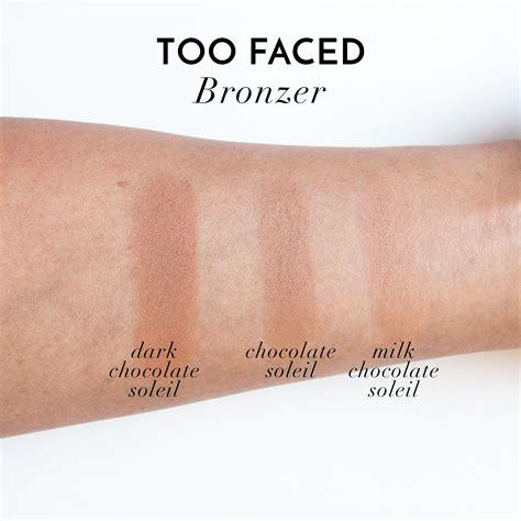 too faced milk chocolate soleil light medium matte bronzer too faced milk chocolate soleil bronzer dupe 2017