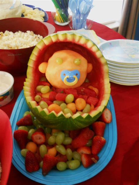 Watermelon Fruit Bowl Baby Shower baby shower watermelon fruit bowl holidays