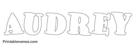 audrey  letters audrey printable girls   color printablenamescom art girl names