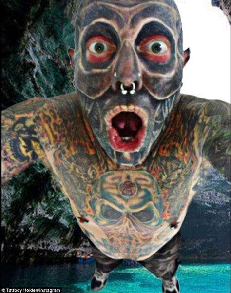 eyeball tattoo adelaide adelaide man tattboy holden has spent 100k on tattoos
