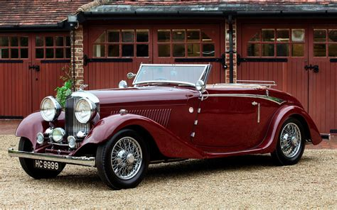 old bentley convertible 1934 bentley drophead coupe hd desktop wallpaper