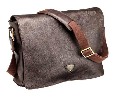 Triumph Leather Messenger Bag   RevZilla