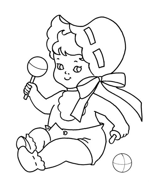 easy baby coloring pages baby coloring pages coloring home