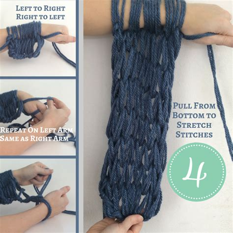 arm knitting scarf step by step how to arm knit a scarf hapiness is handmade