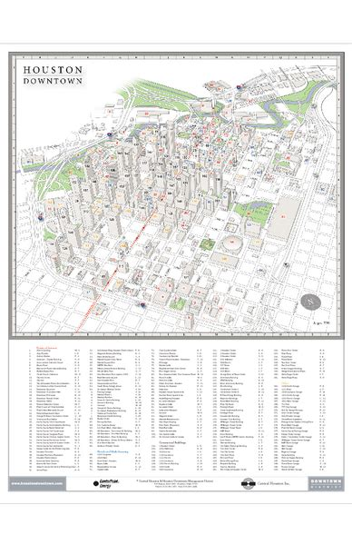 map of downtown houston texas houston city map pdf version free software trackerways