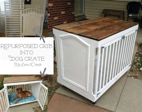 dog crate made out of dresser 20 fabulous diy ideas to repurpose old cribs