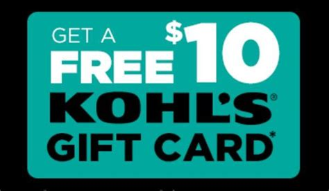 Kohls Free Gift Card - get a free 10 gift card at kohl s with summer apparel purchase this weekend