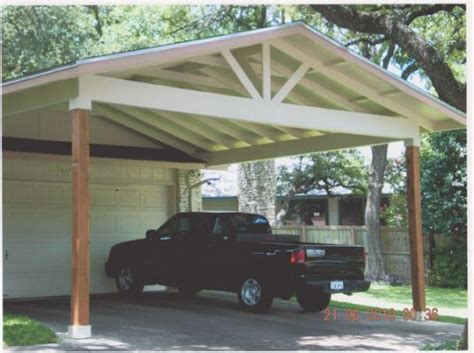 Carport Attached To Garage by Wood Carports Attached To House Car In 2019