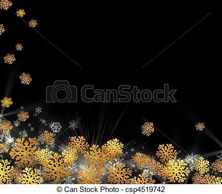 Ch Year Golden Black stock foto schneeflocken gold schwarz