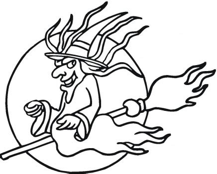 flying witch coloring page halloween flying witch coloring pages