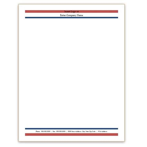 free company letterhead template word six free letterhead templates for microsoft word business