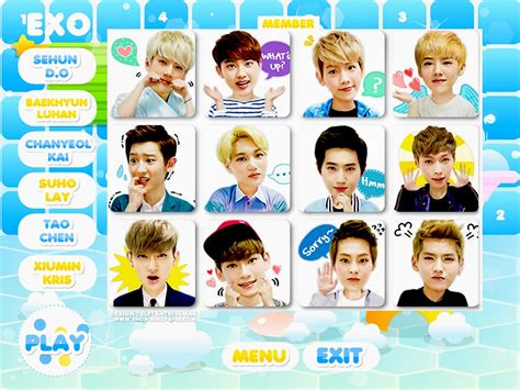 exo game show play game exo choose member favorite wallpaper by