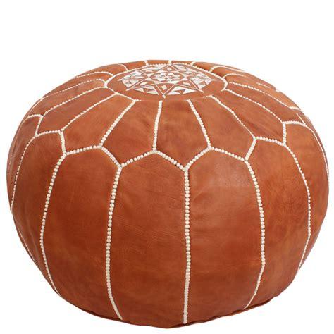 Handmade Pouffe - leather pouf moroccan handmade pouf footstool