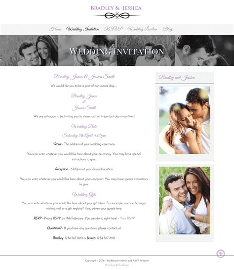 websites for wedding invitations wedding invitation and wedding gallery websites wda designs