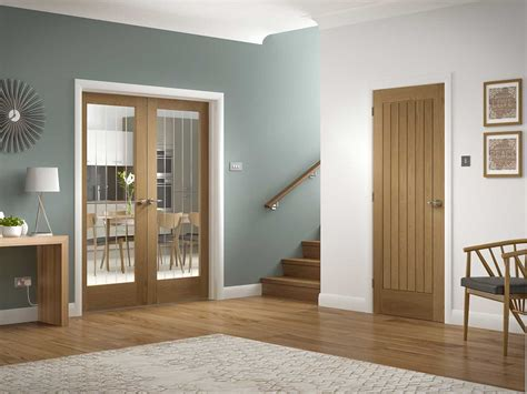 interior oak doors suffolk glazed oak interior door pair