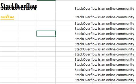 where is specific coding information about each section located excel bolding a specific part of cell stack overflow