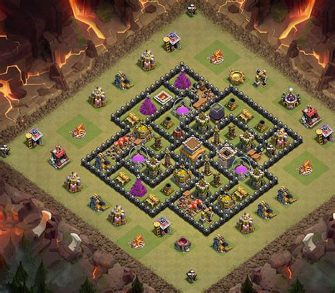 clash of clan 8 town hall war base town hall level 8 war base www pixshark com images
