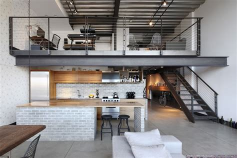 industrial apartment industrial loft in seattle functionally blending materials