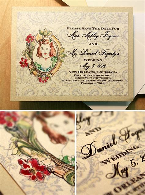vintage cameo wedding invitations vintage cameo wedding invitation with a bit of