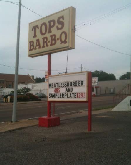 tops bar bq memphis tops bar b q s meatless burger hungry memphis