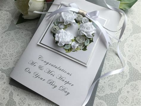 Handmade Wedding Cards Uk - handmade wedding card quot floral wreath quot handmade cards