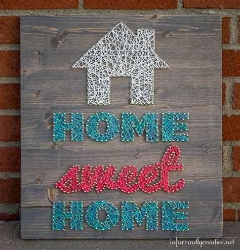 artwork for home home sweet home string art