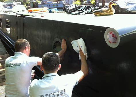 narrow boat vinyl wrap boats wrapping narrowboat prestige customs