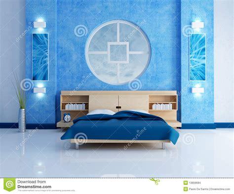 lade da da letto moderne blauwe moderne slaapkamer stock afbeeldingen afbeelding