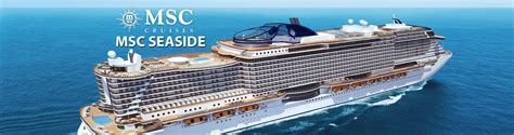 msc seaside cruise ship 2017 2018 msc seaside
