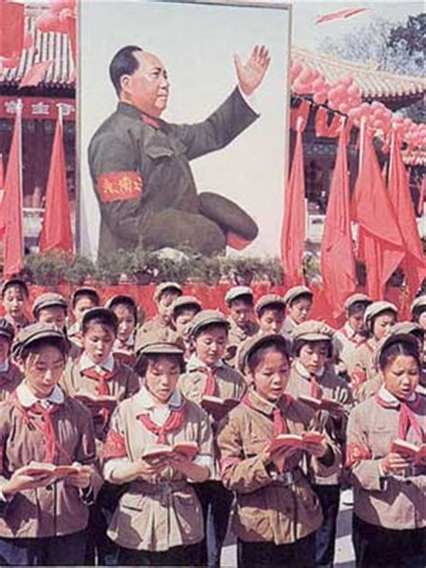 new year during cultural revolution schoolchildren reading from chairman mao s book