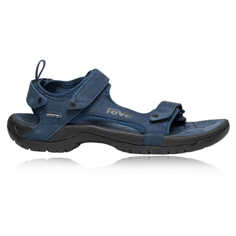 navy mens sandals teva tanza leather mens navy blue velcro outdoors walking