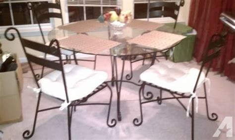 pier one wrought iron table and chairs dining kitchen table pier 1black wrought iron glass