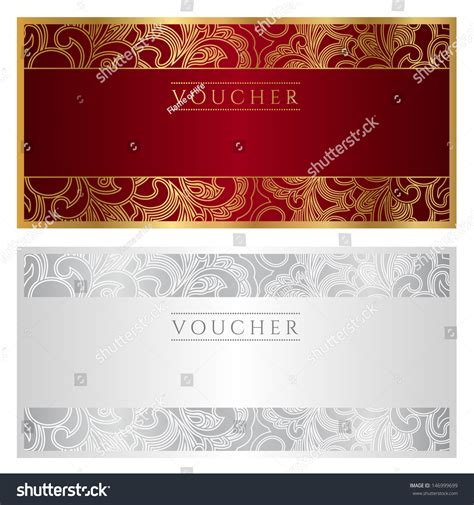 Design Background Voucher | voucher template guilloche pattern watermark border stock