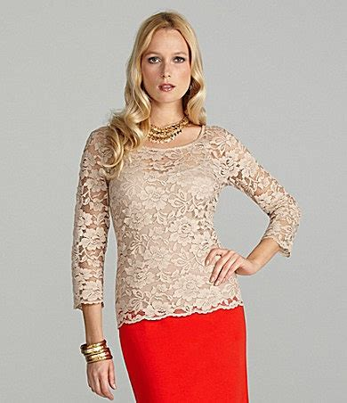 Fashion Cambridge 9526 Cremieux Lace Blouse For Pat Lace