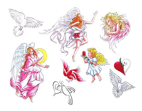 tato bintang aquarius angel tattoos page 69