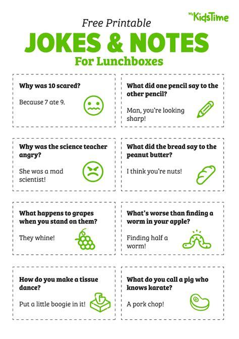 jokes printable pdf free printable lunchbox notes and jokes