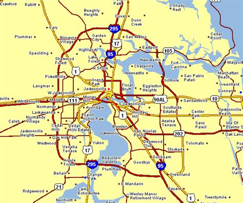printable map jacksonville fl area map of jacksonville