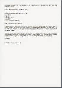 Resignation Letter For A New Opportunity by Free Sle Of Cv Resume May 2016