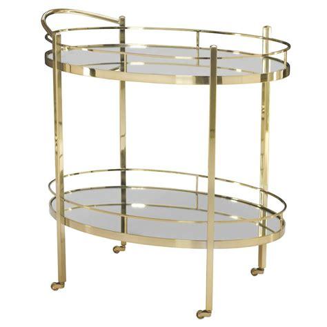 bar carts polished brass mirror bar cart kathy
