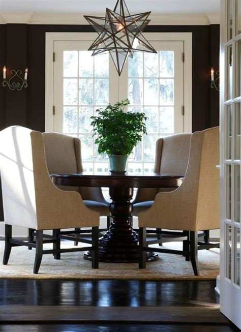 Chocolate Brown Dining Room by Chocolate Brown Walls Design Ideas