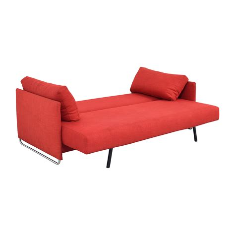 red sleeper sofa 74 off cb2 cb2 tandom red sleeper sofa sofas