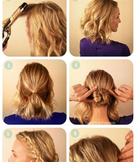 diy hairstyles for shoulder length coiffure de soir 233 e facile cheveux court