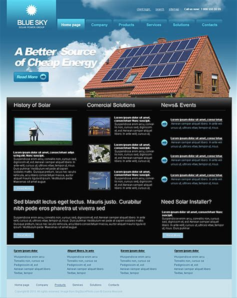 Solar Energy Website Template Html5 Web Templates 300110749 Solar Website Templates