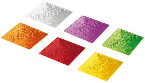 sotto bicchieri sottobicchieri 9x9 cm confezione da set 6 pezzi aqua