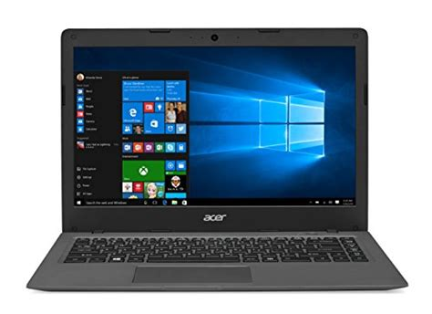 Laptop Acer 14 Inch Windows 10 acer aspire one cloudbook 14 inch hd windows 10 gray