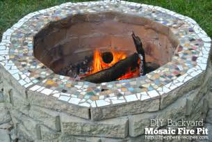 Can I Have A Fire Pit In My Backyard Backyard Mosaic Firepit From 3peppers Recipes Com