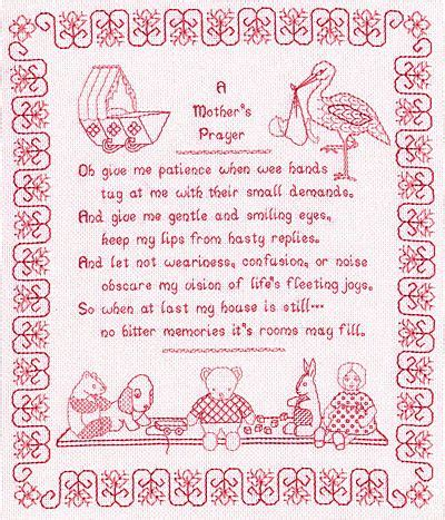Work And Pray Black Eybv a mothers prayer blackwork kit by holbein embroideries