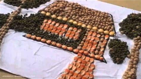 majalah dinding dari biji bijian youtube kolase dari biji jagung kedelai dan kacang hijau karya