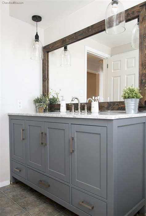 Farm Style Bathroom Vanity Industrial Farmhouse Bathroom Reveal Cherished Bliss